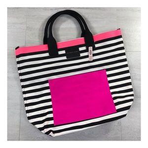 Victoria's Secret   Black & White Stripe Swim Tote